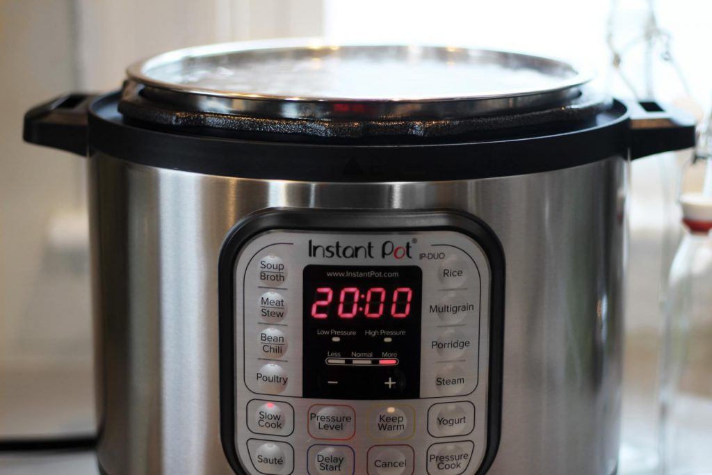Making maple syrup in Instant Pot in your kitchen