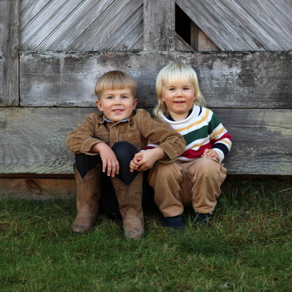 Photo of boys at Scott Farm, Dummerston, VT