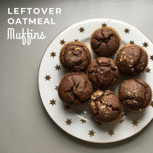 Leftover Oatmeal Muffins (Gluten-free, Sugar-free and Chocolate-ee)